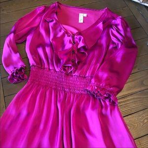 Emma & Michelle Dresses - Emma and Michele Satin Hot Pink Dress Size 10 D